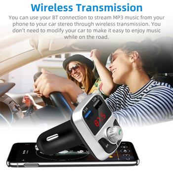 Ładowarka USB akcesoria samochodowe zestaw głośnomówiący samochodowy Bluetooth 5 0 nadajnik FM bezprzewodowy odbiornik Audio podwójna szybka ładowarka USB tanie i dobre opinie VODOOL NONE CN (pochodzenie) Transmitter 12 v 10X5X3cm Car Bluetooth Transmitter Car Bluetooth 5 0 FM Transmitter Bluetooth FM transmitter