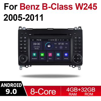 4GB android 9.0 car dvd player For Mercedes Benz B Class W245 2005~2011 NTG Multimedia GPS Navigation Map Autoradio WiFI BT image