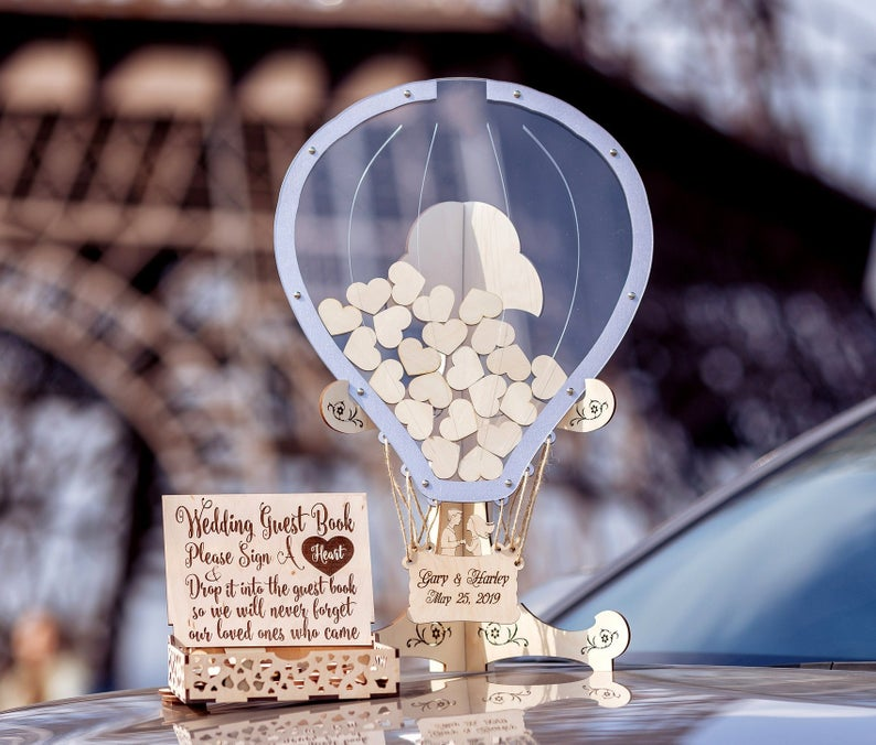 Transparent Balloon Shape, Wedding Guest Book, Wedding Guest Book Alternative, Drop Box Guest Book, Guest Book, Balloon Wedding