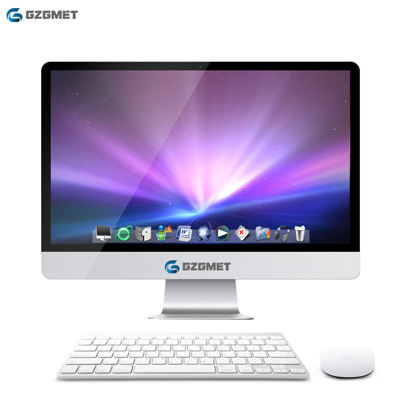 22 Inch Intel Windows 10 Computer All In One Pc  I7 I5 Core Wifi Desktop Pc Come With Keyboard Mouse