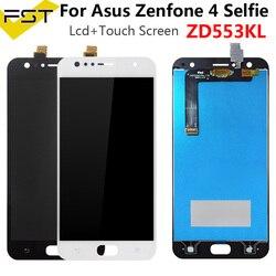 Tela de reposição para asus zenfone 4 selfie, digitalizador touchscreen, peças de reposição + ferramenta asus zd553kl