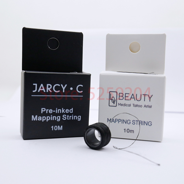 5pcs Microblading MAPPING STRING Pre-Ink Eyebrow Marker Thread Tattoo Brows Point Pre Inked PMU String for Perfectly Shaped Brow