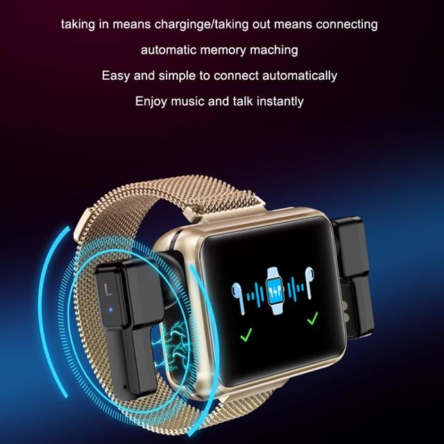 LEMFO TWS Wireless Bluetooth Earphones Smart Watch Men 1.4 Inch Big Customized Dials Bluetooth Calls Smartwatch pk airpods set 5