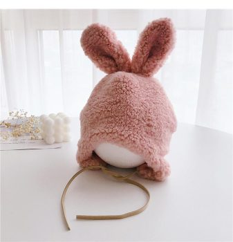 Bunnie-Fluffy Winter Hat – Pink