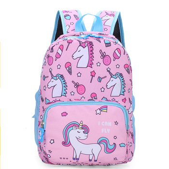 New Unicorn Childrens Schoolbag Boys And Girls Kindergarten Schoolbags Animal Kids Backpack