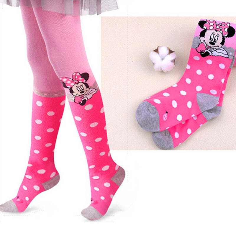 Disney Tights for Girls Cute Pink Mickey Mouse Cartoon Pantyhose Girls Cotton Children Tights Stockings Pantyhose Baby Girl 2