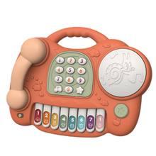 Электронный игрушечный телефон детский мобильный Обучающие игрушки