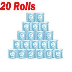 20 Rolls Bianco di Carta Igienica Rotolo di carta Igienica Rotolo di Tessuto Pacchetto Di 4Ply Asciugamani di Carta Del Tessuto Per La Casa di carta Igienica carta igienica di carta