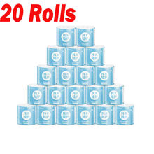 20 Rolls White Toilet Paper Toilet Roll Tissue Roll Pack Of 4Ply Paper Towels Tissue Household Toilet paper toilet tissue paper