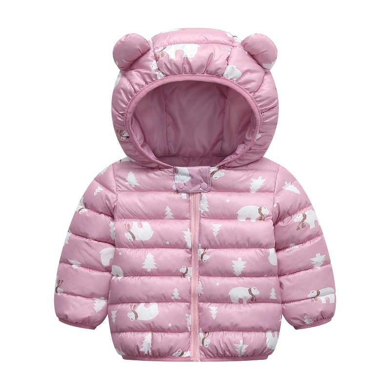 infant boy winter Warm clothes kids baby girls hooded coat Cartoon costume 2020 fashion children Outerwear Clothing cottons 0-5Y 3