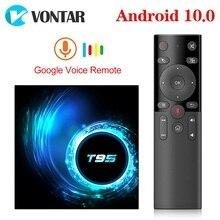 Decodificador de señal T95 Dispositivo de TV inteligente, Android 10, 4g, 64gb, 4GB, 32GB, Allwinner H616, Quad Core, 1080P, H.265, reproductor multimedia 4K