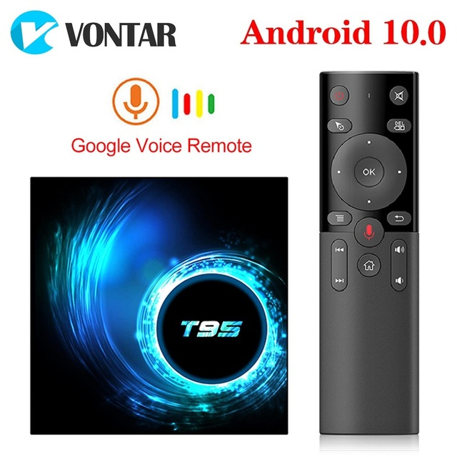 T95 Smart TV Box Android 10 4g 64gb 4GB 32GB Allwinner H616 Quad Core 1080P H.265 4K media player Smart TVBOX Set top box