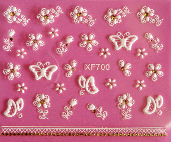 XF 5D Relief Nail Sticker Stereo Nail Sticker XF700
