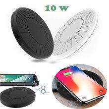 10W Tragbare Qi Drahtlose Ladegerät Pad Für Samsung s10 S9 Hinweis 5 iphone 8 Plus xs max Xiaomi Mi 9 Smart Telefon Ladestation