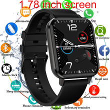 1.78 inç tam dokunmatik akıllı saat erkekler IP68 su geçirmez Smartwatch kadınlar çok dilli ekran spor izci Android IOS için izle