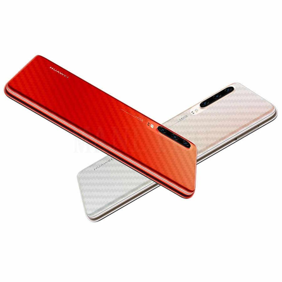 5 pçs 3d protetor de tela fibra carbono para huawei p30 p20 companheiro 20 pro capa traseira película protetora clara para huawei p30 p20 lite