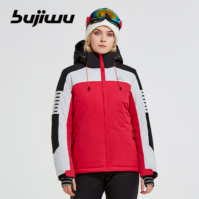 Bujiwu Brand Women Ski Jacket Hot Sale High Quality Ski Jackets New Arrival Women Ski Suit Warm Skiing Snow Coat