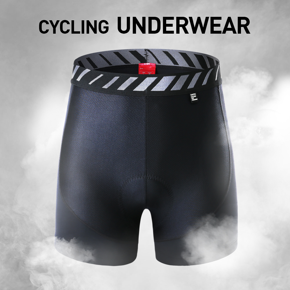 Santic Men Cycling Shorts Padded Underwear Shorts Summer Coolmax 4D Pad Shockproof R-FEEL Road MTB Cycling Clothings WL9N004