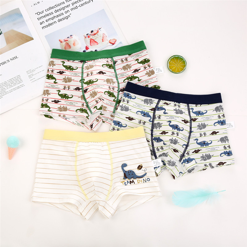 3 Pcs/Lot Children Boys Panties Cotton Cartoon Boys Boxers Kids Underwear Elastic Child's Underpants For 2-15Y Boys Underclothes
