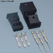 Shhworld Sea 3 Pin/Way 0,6 мм Мужской Женский авто стерео разъем, автомобильный динамик разъем тройной разъем для BMW 1-968700-1 B/1355620-1