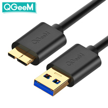 QGEEM 마이크로 USB 3.0 케이블 유형 A 마이크로 B 케이블 외장형 하드 디스크 HDD 용 Samsung S5 Note3 USB HDD 데이터 케이블