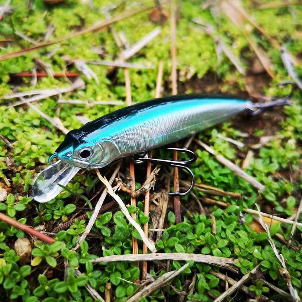 SUNMILE Nuovo Minow Lure di Pesca 70mm/4.5g Esca Dura Jerkbait Laser Esche Artificiali per bassi persico luccio wobblers esche