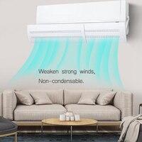 Windguard amortecedor de ar durável plástico extensível anti direto soprando deflectores de gás escritório ar condicionado brisa hotel