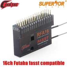 Cooltech RFA16 16ch receptor Futaba fasst compatível para 6EX 7C 8FG 10CG 12FG 14MZ 14SG 18MZ