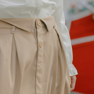 Image 4 - INMAN 2020 Spring New Arrival Literary Retro Single breasted A line long Umbrella Skirt