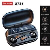 Lenovo QT81 TWS auricolari cuffie senza fili reali auricolari Bluetooth 5.1 Touch Control cuffie sportive sportive resistenti al sudore con microfono