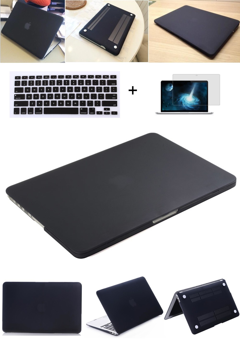 Laptop Case For Apple Macbook Mac book Air Pro Retina New Touch Bar 11 12 13 15 inch Matte Hard Laptop Cover Case 13.3 Bag Shell image