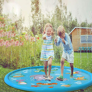 Lawn Games Sprinkler Water-Mat Mat-Outdoor Kids Toys Play Inflatable Summer Spray Pad