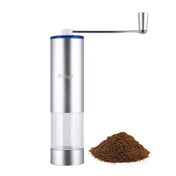 2018 Manual Coffee Grinder Conical Burr Mill for Precision Brewing Adjustable Grind Selector Low Noise Aluminum Alloy Portable 1