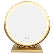 Makeup-Mirror Smart Mirror-Rotation Led-Light Adjustment Girl Round Desktop