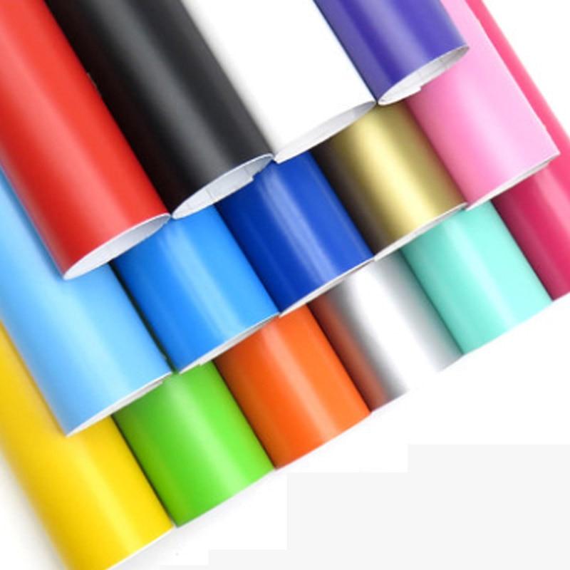 Premium 18 farben Matt Vinyl Film Selbst Klebe matte Auto Wrap Folie Mit Luftblase Frei Für Motorrad Auto Aufkleber aufkleber