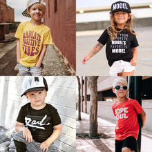 2020 nouveau été bébé fille t-shirt enfants vêtements garçons t-shirt mode lettre imprimer coton à manches courtes enfants t-shirt