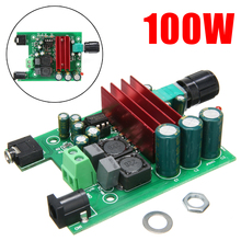 1pc TPA3116D2 100W AMP Boards 2 Channel Digital Power Amplifier Board Audio Module For Subwoofer 75X60mm 1pc tube amplifier audio boards high quality 2 0 channel pre amp audio mixer 6j1 valve bile buffer amplifier audio board diy kit