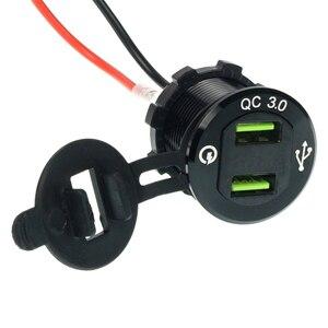 Image 4 - 2in1 Car Fast Charger Socket Dual USB Port Volt Display 12 24V Phone charger