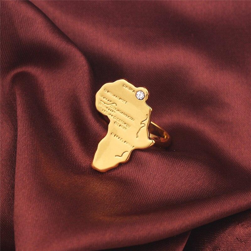 H97d17715dd454883b20bf5dc63b435b0s Anel África mapa anel ajustável para mulheres cor do ouro hip hop étnico jóias atacado punk africano de cobre de alta qualidade presente