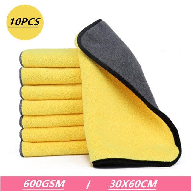 Bossnice 10 pz dettaglio Auto pulito 30X60CM morbido microfibra Car Wash asciugamano Auto pulizia asciugatura panno Auto cura panni cura dei dettagli