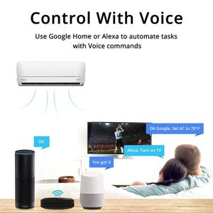 Image 5 - Tuya casa inteligente wifi ir controle remoto de voz ar condicionado caixa tv via alexa google sem fio universal ir controlador