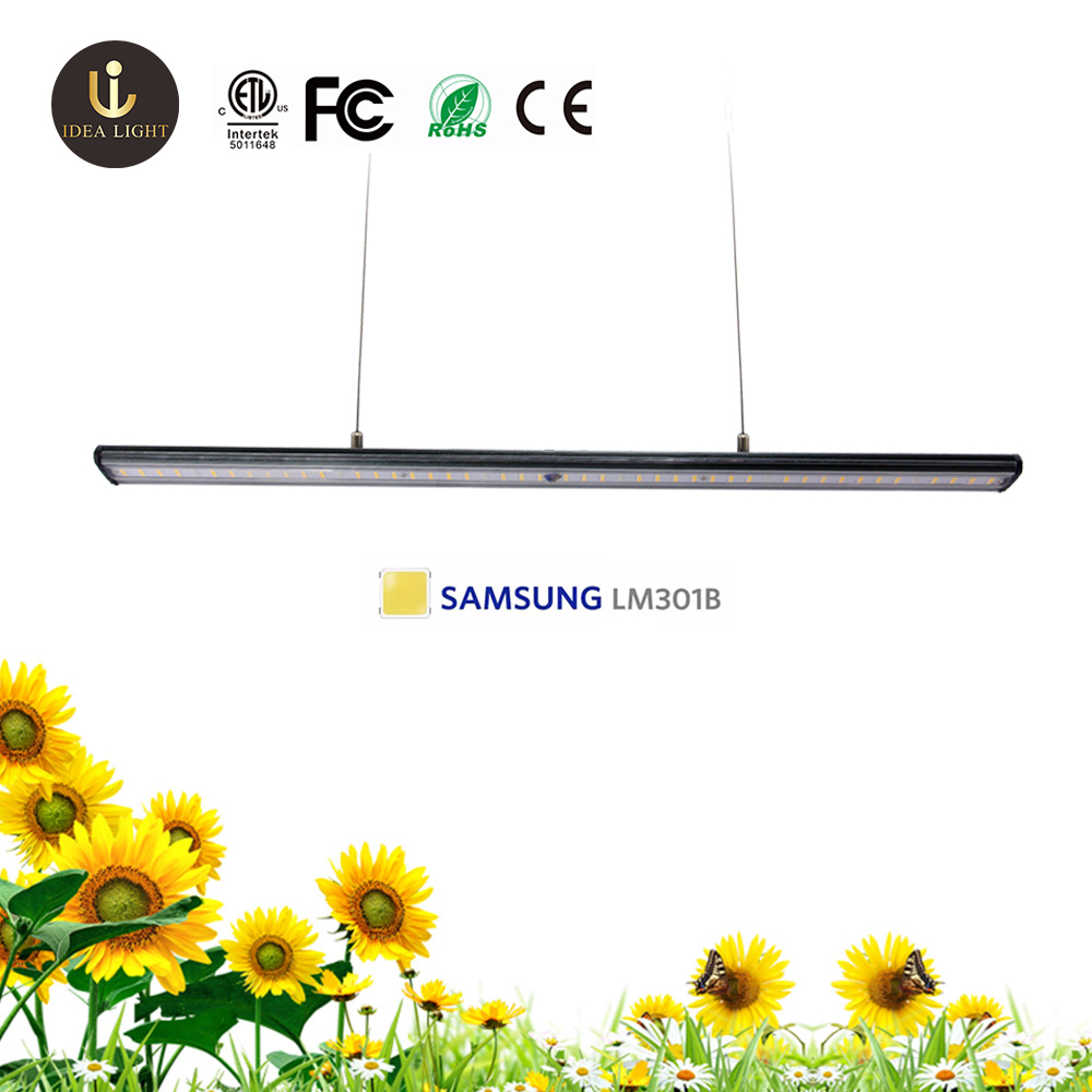 2020 Latest design best LED grow light bar 45w 60w 80w beam angle adjustable Far red horticulture grow light image