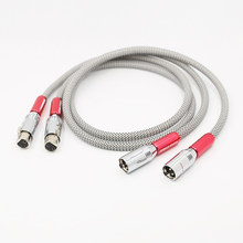 VX09001 Audio posrebrzany kabel audio XLR hifi 1M xlr kabel audio-wideo 1.5M(China)