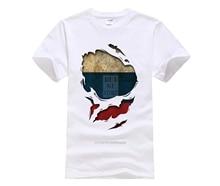 Мужская футболка с принтом, Русская рубашка с эффектом потертости, 2020