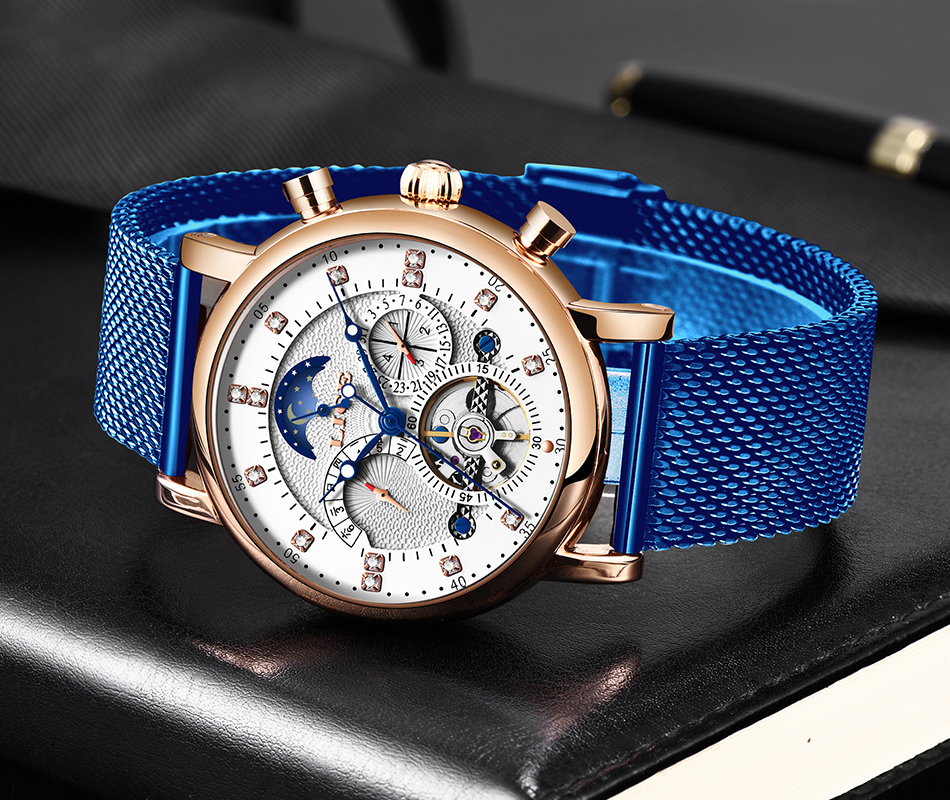 H97d1a5956f7e468399dec208eefed292K LIGE Gift Mens Watches Brand Luxury Fashion Tourbillon Automatic Mechanical Watch Men Stainless Steel watch Relogio Masculino