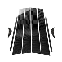 Replacement For Toyota Camry 2018 2019 8pcs/set Window Column B Pillar Cover Carbon Fiber Decor