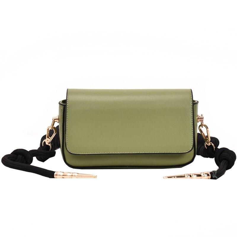 Women's Belt Bag PU Leather Bag On A Belt Rope Knot Bullet Fanny Pack Bananka Fashion Wild Satchel Women Belly Band Waist Bag