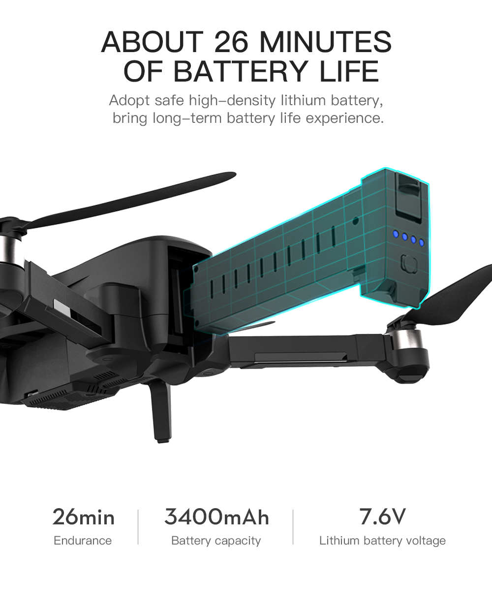 Hipac SG906 Pro 2 Drone 4k GPS with Camera 3 Axis Gimbal Brushless Profissional 800M Wifi 26Min RC Dron 4k GPS Quadrocopter 6