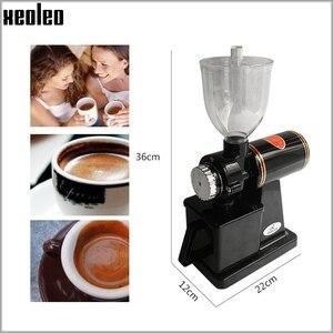 Image 3 - Xeoleo 전기 커피 그라인더 600N 커피 밀 기계 커피 콩 그라인더 기계 플랫 burrs 그라인딩 머신 220V 레드/블랙