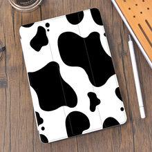 Padrão animal vaca para o ar 4 ipad caso bonito lápis titular 10.2 8th 2020 7th 12.9 pro 11 2018 mini 5 capa de silicone 10.5 ar 2